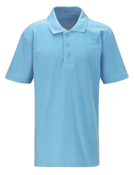 Picture of Polo shirt - plain sky blue