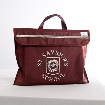 Book Bags - St Saviour. Maroon Book Bag with school logo 51f259e90177e