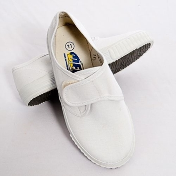 Picture of Plimsolls - White Velcro
