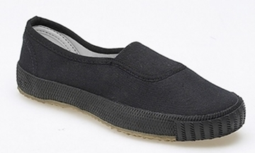 Picture of Plimsolls - Black Slip-On