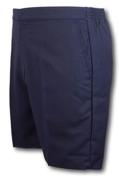 Picture of Shorts - Navy Classic Flat Front David Luke