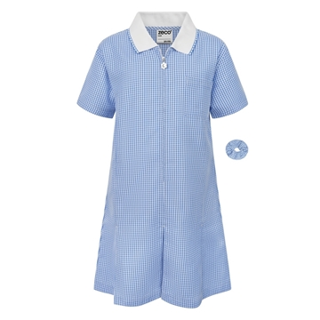 Picture of Zeco Gingham Dress - Sky Blue