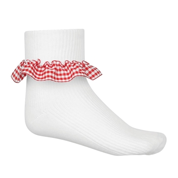 Picture of Red Gingham Socks