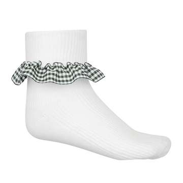 Picture of Bottle Green Gingham Socks