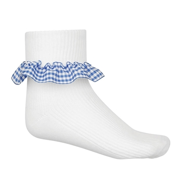 Picture of Sky Blue Gingham Socks