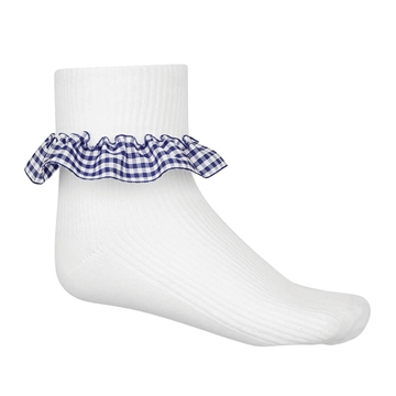 Picture of Navy Gingham Socks