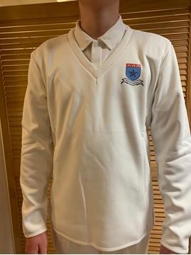 Picture of Radial Cricket Whites Jumper - De La Salle