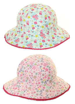 Picture of Girls Floral Sun Hat